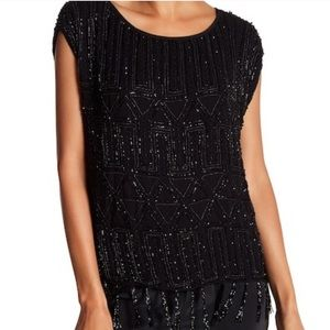 NWT Joie beaded Cecile boxy sleeveless blouse